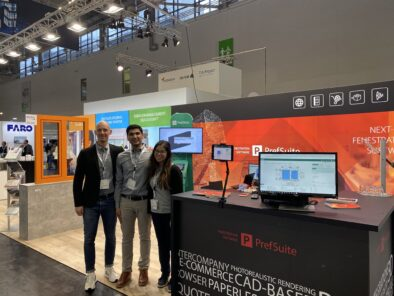 Tom Winterstein, Tejas Vyas und Aline Maruyama auf der digital Bau